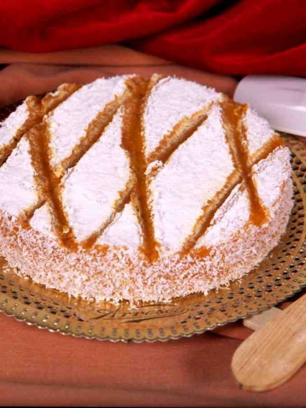 Tarta de yema quemada